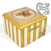 Скринька з собачкою маленька 9 * 9 * 6 см