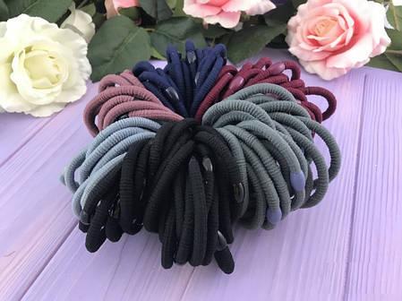 Набор резинок для волос 6-ти цветов, 100 штук, фото 2