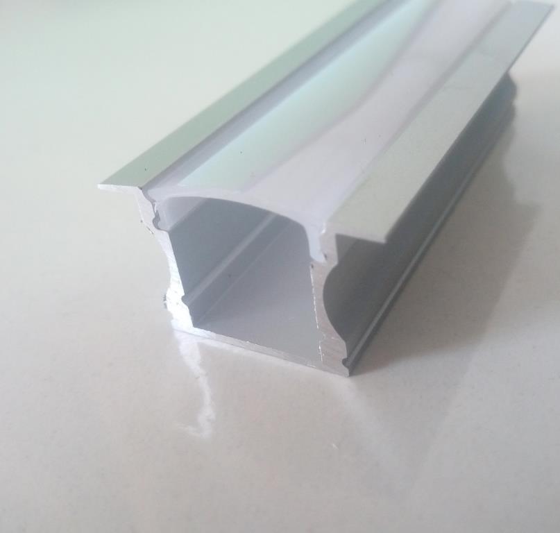 Врізний алюмінієвий профіль разом з розсіювачем 2 м для LED стрічки АЛ-03