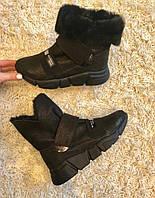 """Ботинки  """" липучка полукруг """" натуральная кожа  код  2490, фото 1"""