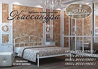 Металлическая кровать Кассандра ТМ «Металл-Дизайн» Черный бархат/Черный, 1200х1900(2000)