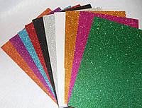 Набір фоамирана з глітером 10 кольорів 16568, розмір А4, товщина 2 мм, фото 1
