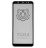 Защитное стекло 5D Full Glue TIGER для Samsung Galaxy A6 Plus (2018) SM-A605F Black (Screen Protector 0,3 мм)
