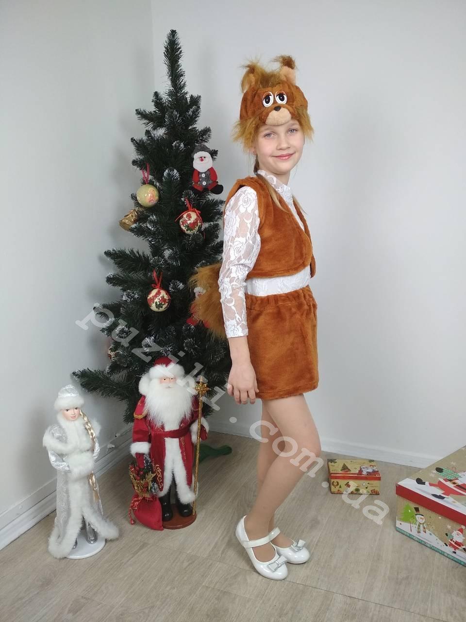 Детский карнавальный костюм Белка 2-7 лет
