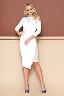 Женское платье с ажурными вставками.