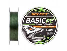 Шнур Select Basic PE 150m (темн-зел.) 0.20mm 28lb/12.7kg