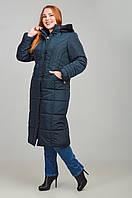 Красивая зимняя женская куртка большие размеры в 4х цветах НИКА размеры 52-64, фото 1