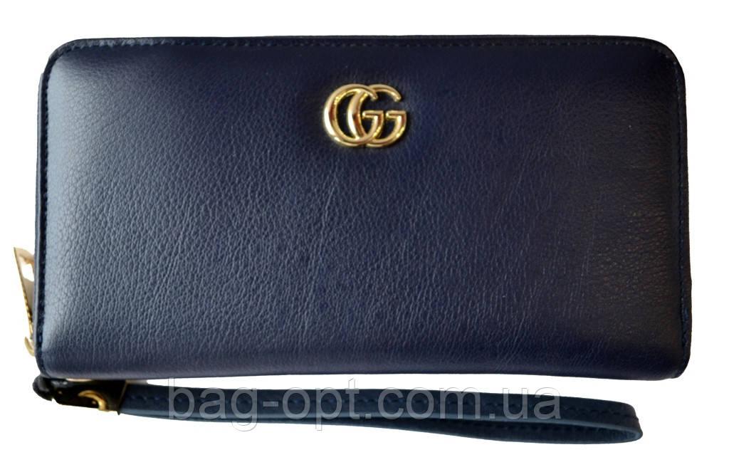 Женский кошелек из натуральной кожи Gucci (11x19.5x3.5)