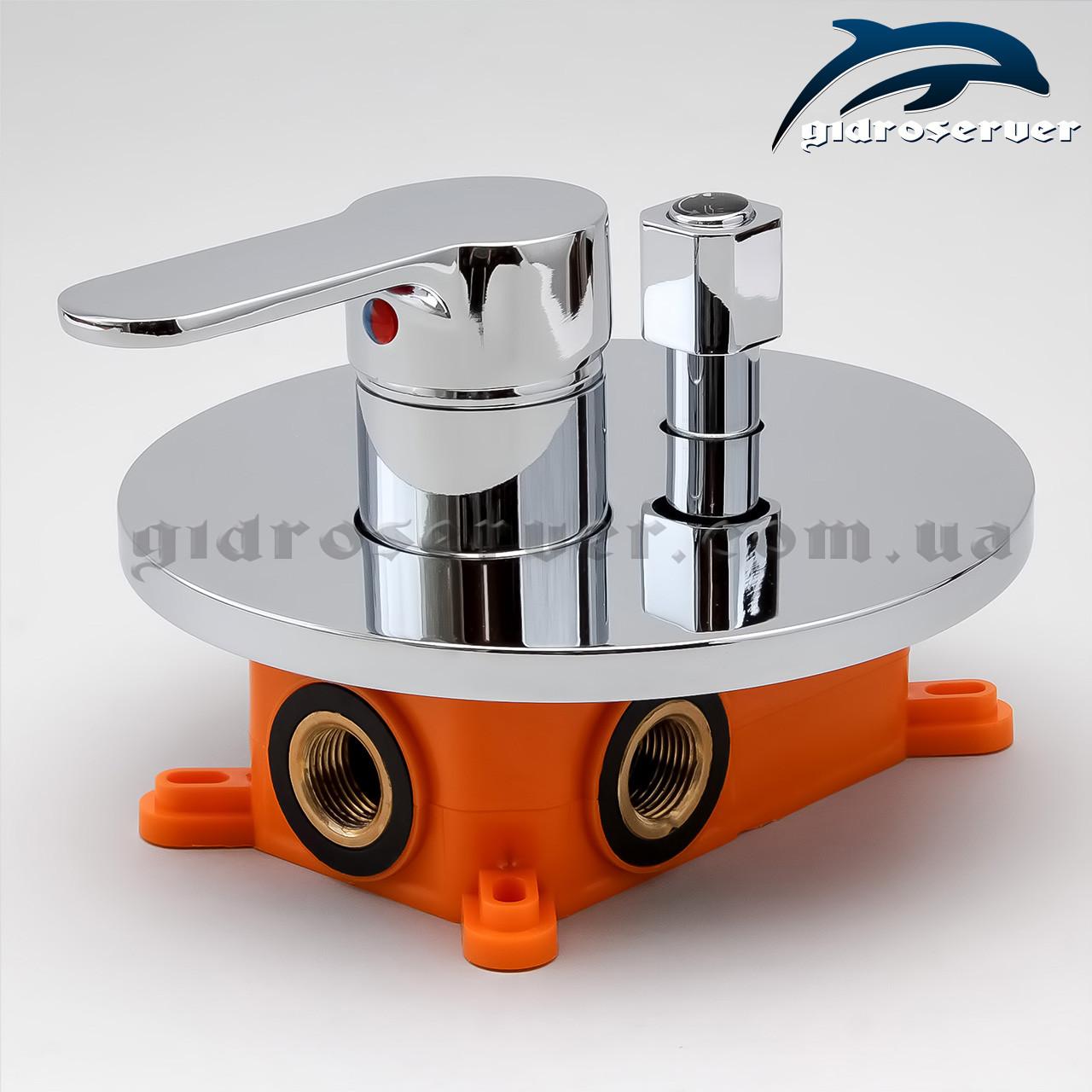Смеситель скрытого монтажа для душевой системы SVВ-02 с переключателем на 2 положения.