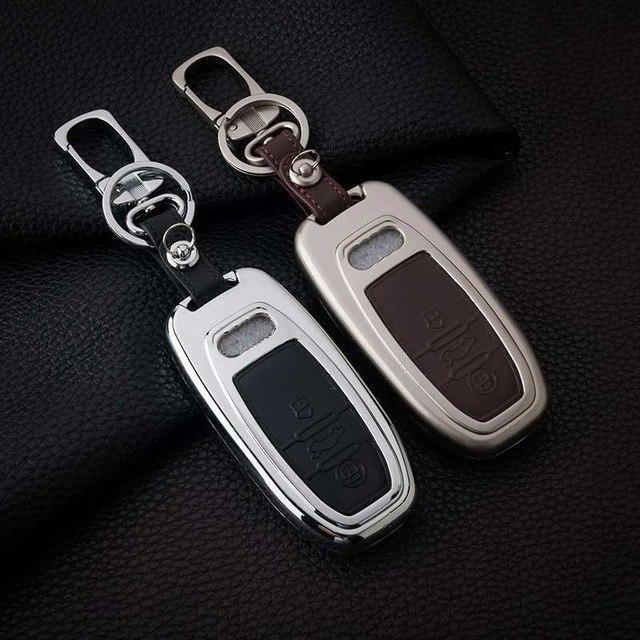 Металлический чехол для ключа Audi A1,A3,A4,A5,A6,A6 ALLROAD QUATTRO,A7,A8,Q2,Q3,Q5,Q7,Q8,R8,RS Q3,RS3,RS4,RS5
