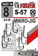 Одинарный крючок Fanatik S-57 Mikro-Jig №8, фото 1