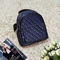 Рюкзак мини женский эко-кожа - велюр