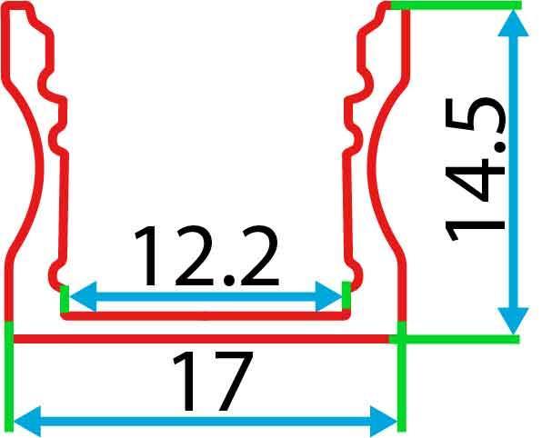 Накладний алюмінієвий профіль разом з розсіювачем 2 м для LED стрічки АЛ-04, фото 2