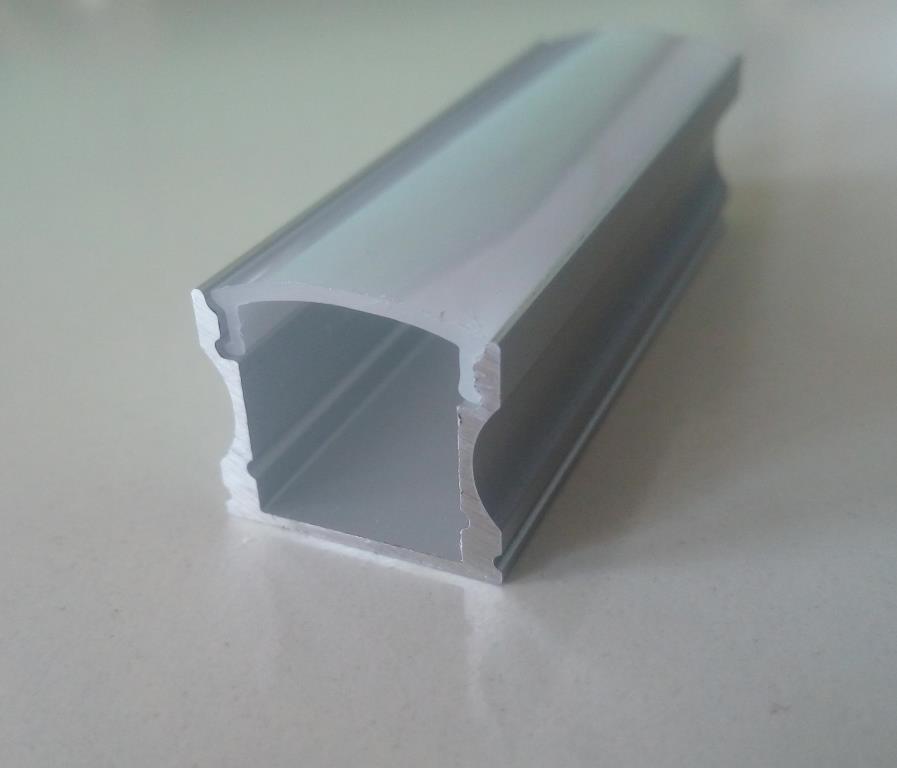 Накладний алюмінієвий профіль разом з розсіювачем 2 м для LED стрічки АЛ-04, фото 1
