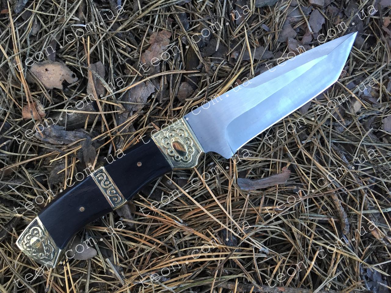 Нож нескладной Танто FB103, кожаный чехол в комплекте