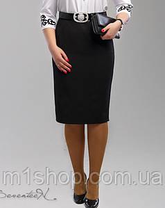 Женская черная трикотажная юбка больших размеров (1992 svt)