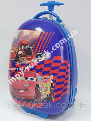 Детский чемодан дорожный на колесах «Тачки» Cars-9, фото 2