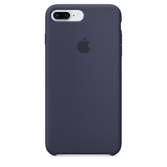 Чехол силиконовый Apple Silicone Case iPhone 7 и 8  Dark Blue, Чохол силіконовий Apple Silicone Case
