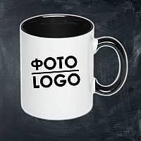Кружка с фото/логотипом керамическая черная
