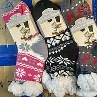 """Носки подарочные.Тапочки тёплые. Носки женские, тёплые, домашние, """"Attractive"""""""