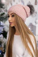 Зимняя теплая женская шапка.