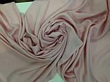 Кашемировый однотонный  палантин с бахромой цвет розовый, фото 3