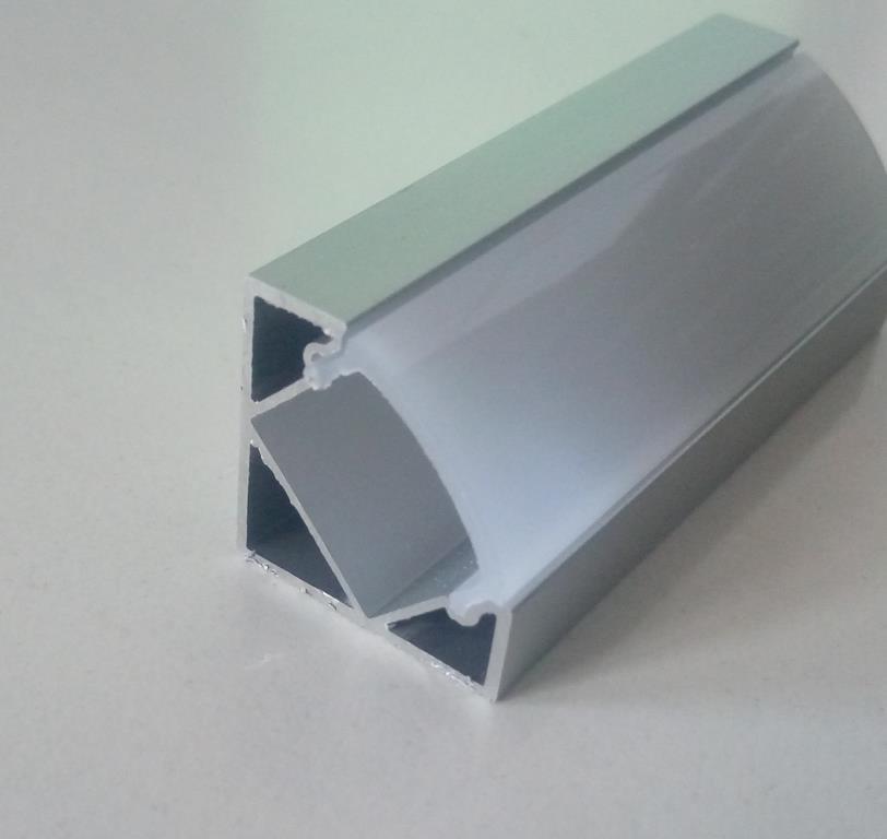 Кутовий алюмінієвий профіль разом з розсіювачем 2м для LED стрічки АЛ-07