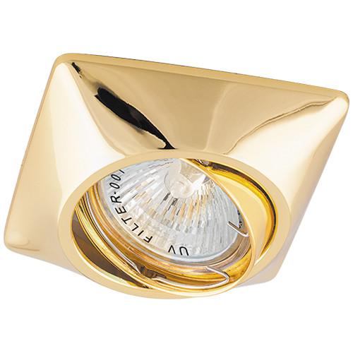 Cветильник точечный встраиваемый поворотный золото Feron DL6046 под лампу MR16