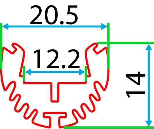 Круглий алюмінієвий профіль разом з розсіювачем 2м для LED стрічки АЛ-08, фото 2