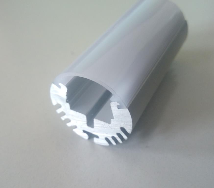 Круглий алюмінієвий профіль разом з розсіювачем 2м для LED стрічки АЛ-08