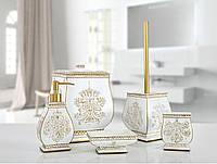Комплект в ванную Irya Karlis gold золотой (5 предметов)