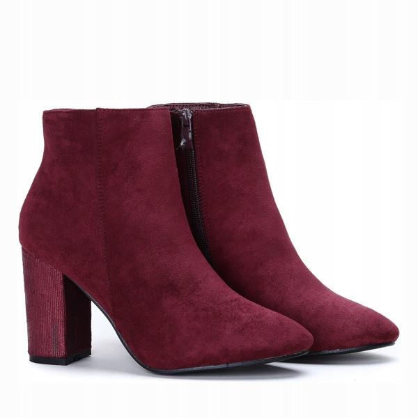 Польские ботинки демисезонные бордового цвета