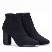 Женские качественные ботинки из эко замша на не большом каблуке, фото 1