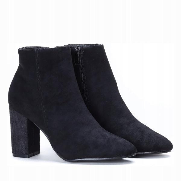 Женские качественные ботинки из эко замша на не большом каблуке