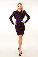 Костюм из платья и болеро фиолетового цвета