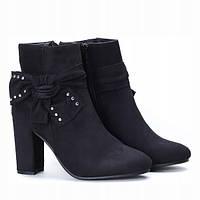 Чёрные модные ботинки по привлекательной цене, фото 1