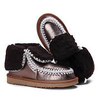 Женские ботинки-угги на зиму с отворотом размеры 36-41