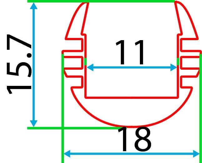 Круглий алюмінієвий профіль разом з розсіювачем 2м для LED стрічки АЛ-08-01, фото 2