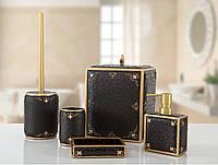 Комплект в ванную Irya Luxton siyah черный (5 предметов)