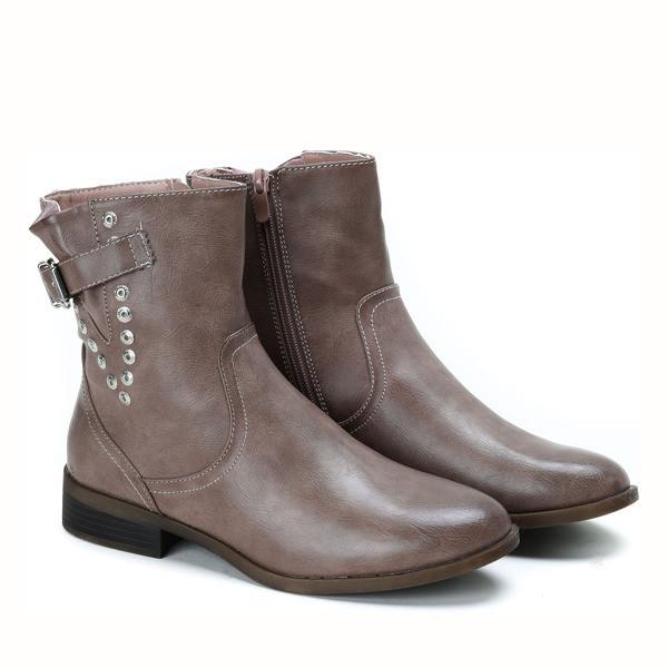 Шикарные демисезонные ботинки коричневого цвета на осень-весна