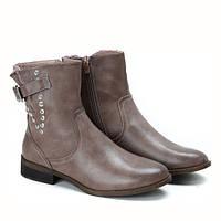Шикарные демисезонные ботинки коричневого цвета на осень-весна, фото 1