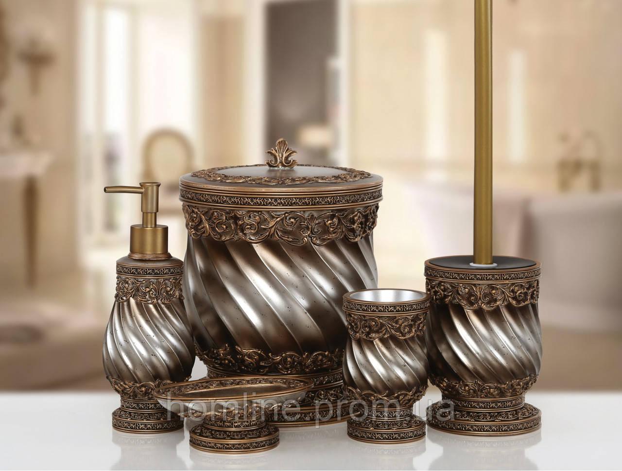 Комплект в ванную Irya Queen bronz бронзовый (5 предметов)