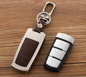 Металлический чехол для ключа Volkswagen Passat, Golf,Tiguan,Touareg,Polo,Jetta,Amarok ,Beetle,Сaddy,Passat