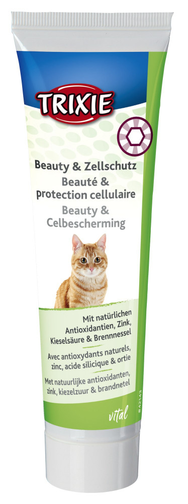 Trixie TX-421432 Beauty & Cell Protection паста  для кота 100г Красивая шерсть