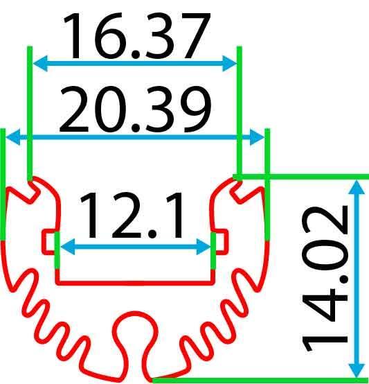 Круглий алюмінієвий профіль разом з розсіювачем 2м для LED стрічки АЛ-08-02, фото 2