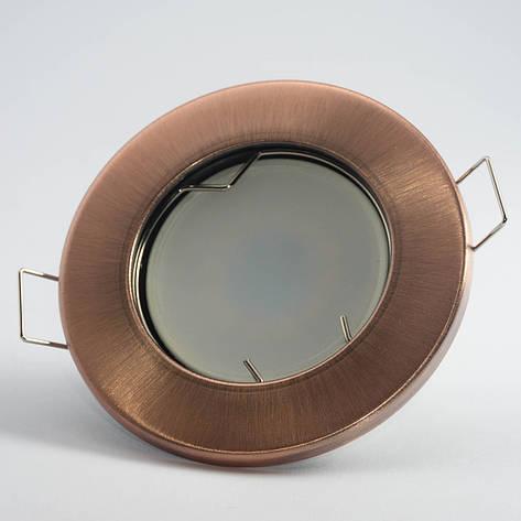 Встраиваемый светильник Feron DL10 античная медь, фото 2