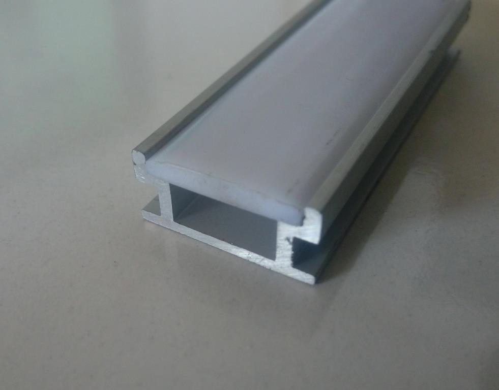 Накладний алюмінієвий профіль разом з розсіювачем 2 м для LED стрічки АЛ-09, фото 1
