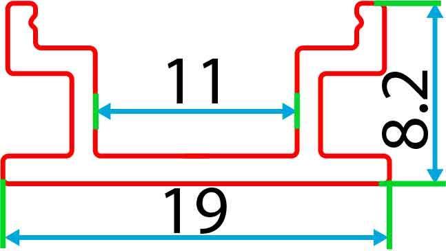 Накладний алюмінієвий профіль разом з розсіювачем 2 м для LED стрічки АЛ-09, фото 4