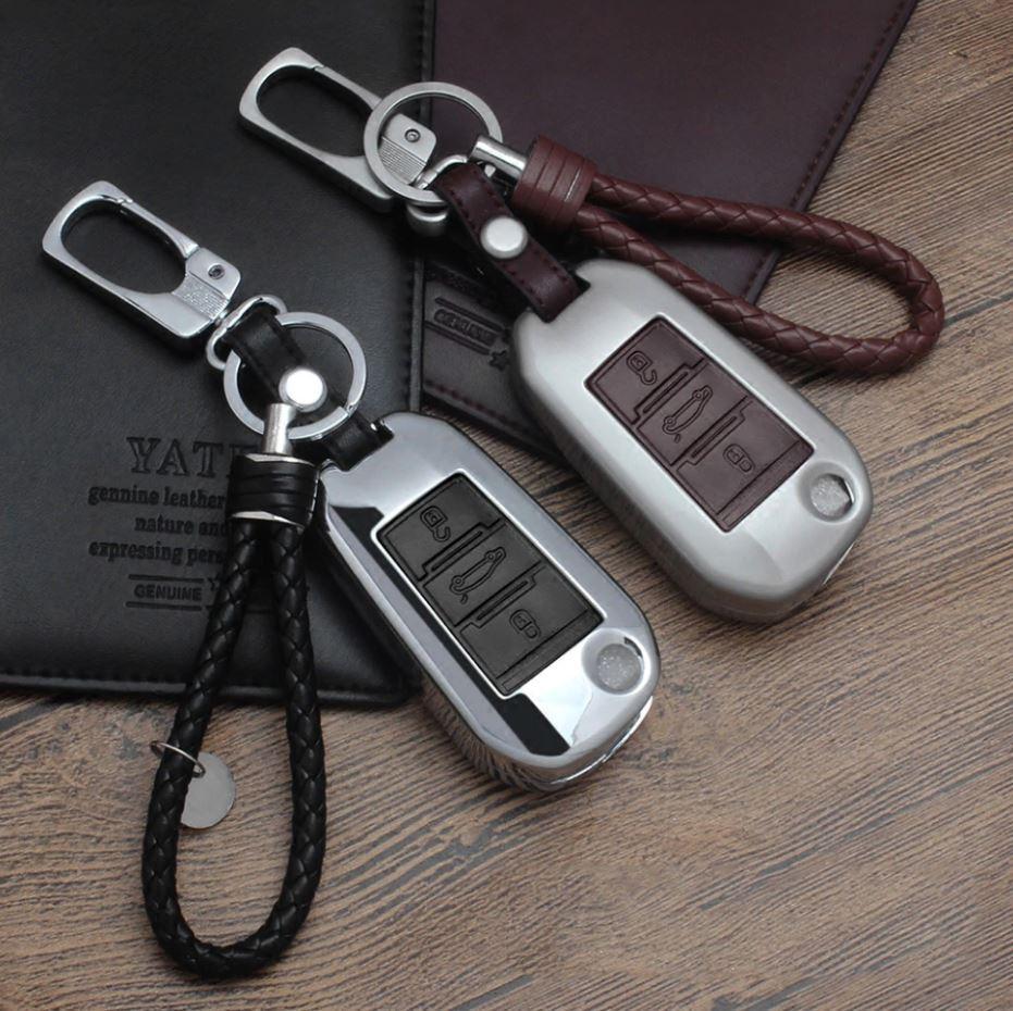 Металлический чехол для ключа Peugeot 1007,107,108,2008 ,206,207,208,3008, 301,307,308,4008,406,407,408,508