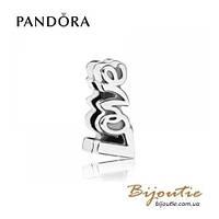 Pandora шарм-клипса ПОЧЕРК ЛЮБВИ REFLEXIONS #797579 серебро 925 Пандора оригинал